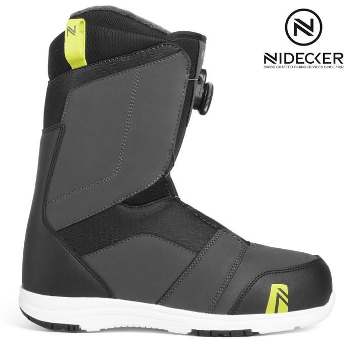18-19 NIDECKER ブーツ RANGER BOA:CHARCOAL 正規品/スノーボード/メンズ/ナイデッカー/ニデッカー/flow/フロー/snow
