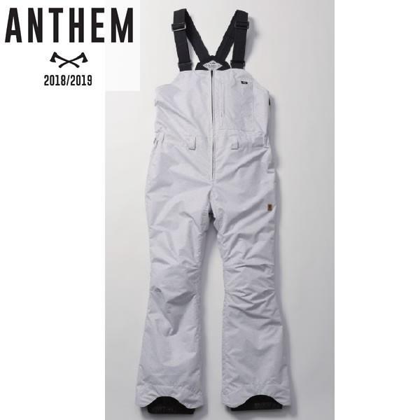 18-19 ANTHEM ビブパンツ BIB PNT an1777: Slab Gray 正規品/メンズ/レディース/スノーボードウエア/ウェア/アンセム/snow