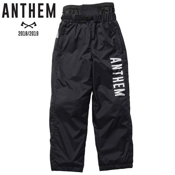 18-19 ANTHEM パンツ WIND BREAK PNT an1816: 黒 正規品/メンズ/レディース/スノーボードウエア/ウェア/アンセム/snow