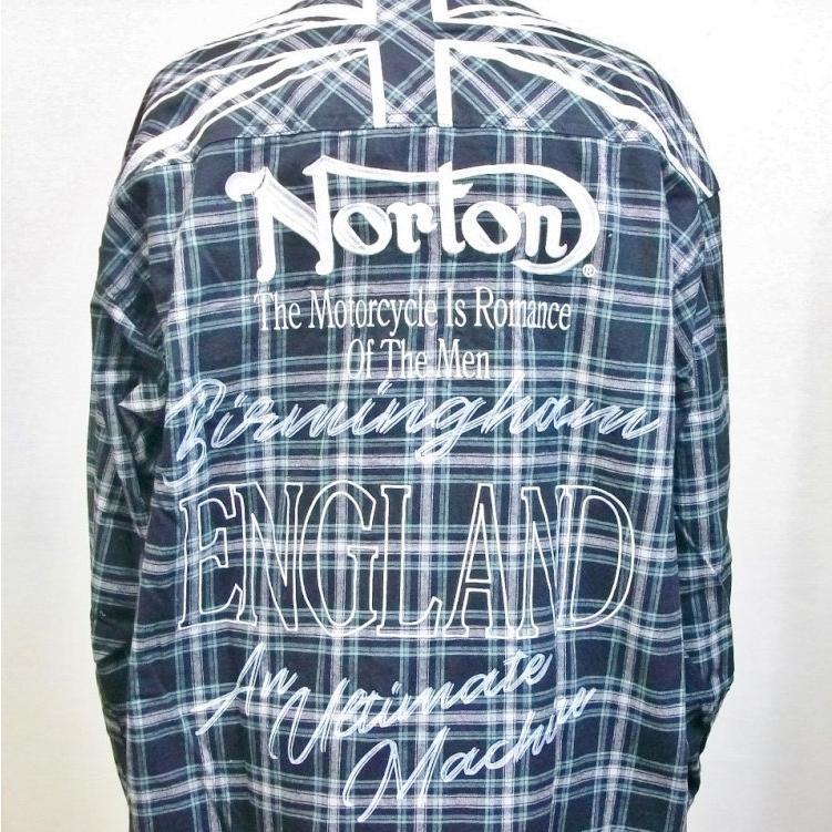 ノートン Nortonドロップショルダー長袖チェックシャツ 211N1501 バイカー ロッカーズ アメカジ bscrawler 04