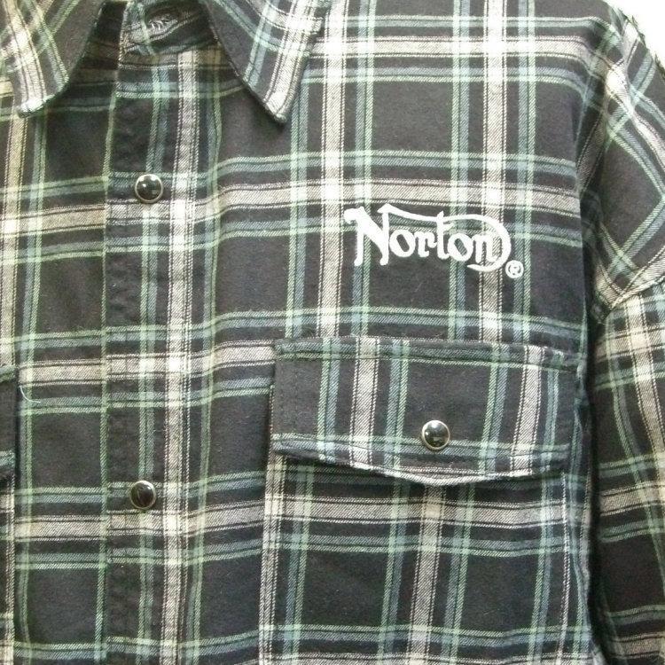 ノートン Nortonドロップショルダー長袖チェックシャツ 211N1501 バイカー ロッカーズ アメカジ bscrawler 05