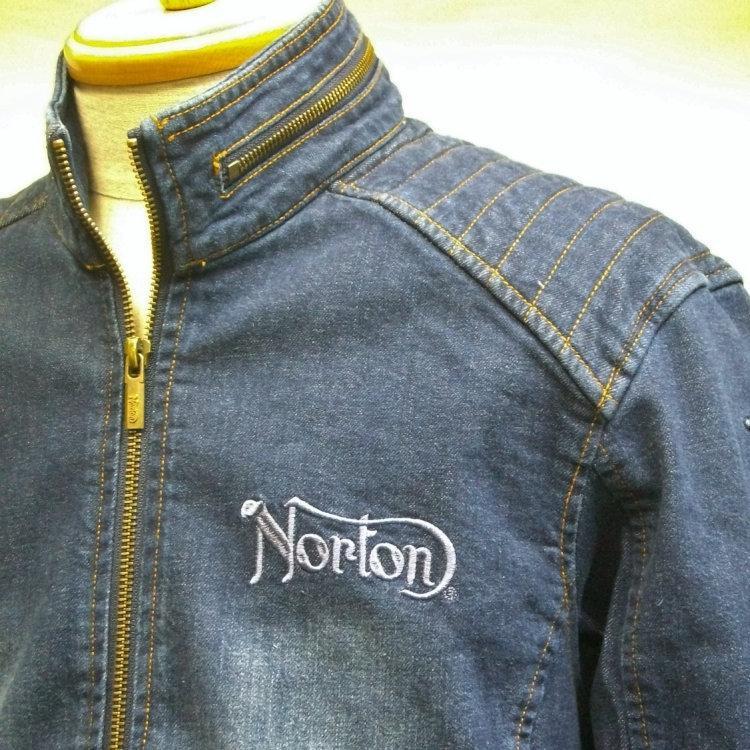 ノートン Nortonストレッチデニムライダースジャケット 211N1600 アメカジ バイカー ロッカーズ|bscrawler|04