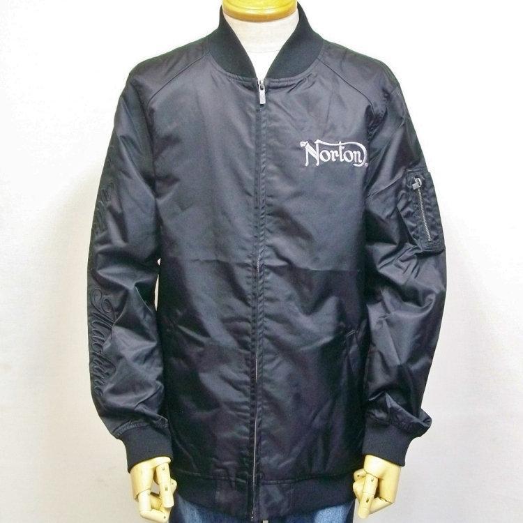 ノートン Norton撥水ナイロンツイルMA-1 211N1601 アメカジ バイカー フライト|bscrawler|02