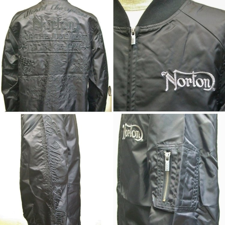 ノートン Norton撥水ナイロンツイルMA-1 211N1601 アメカジ バイカー フライト|bscrawler|05