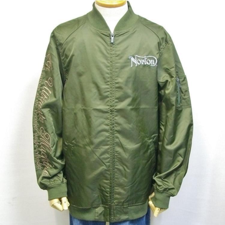 ノートン Norton撥水ナイロンツイルMA-1 211N1601 アメカジ バイカー フライト|bscrawler|06