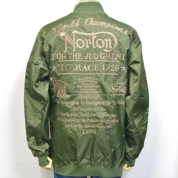 ノートン Norton撥水ナイロンツイルMA-1 211N1601 アメカジ バイカー フライト|bscrawler|07