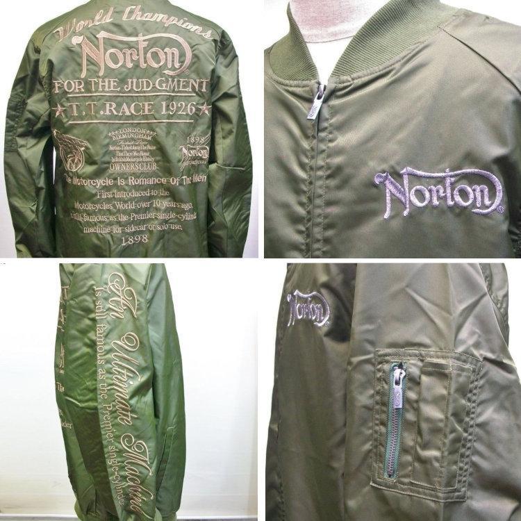 ノートン Norton撥水ナイロンツイルMA-1 211N1601 アメカジ バイカー フライト|bscrawler|09