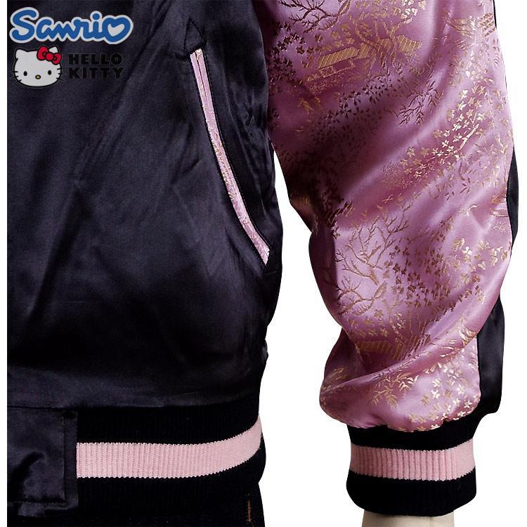 和装ハローキティと桜 ジャガード袖スカジャン HKSJ-004 サンリオ 和柄 bscrawler 06