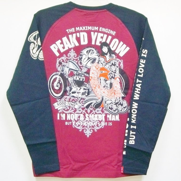 ピークドイエロー Peak'd Yellow 長袖T ロンT PYLT-199 バイク姉御 和柄 バイカー ロック お姉ちゃん 女の子|bscrawler|05