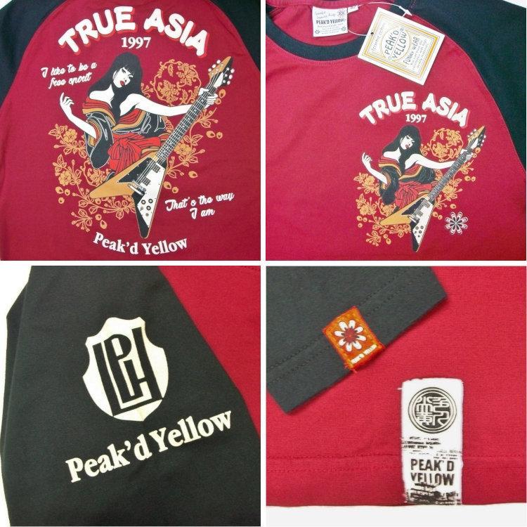 ピークドイエロー Peak'd Yellow 長袖T ロンT PYLT-222 TRUE ASIA 和柄 アメカジ ロック お姉ちゃん 女の子 フライングV|bscrawler|07