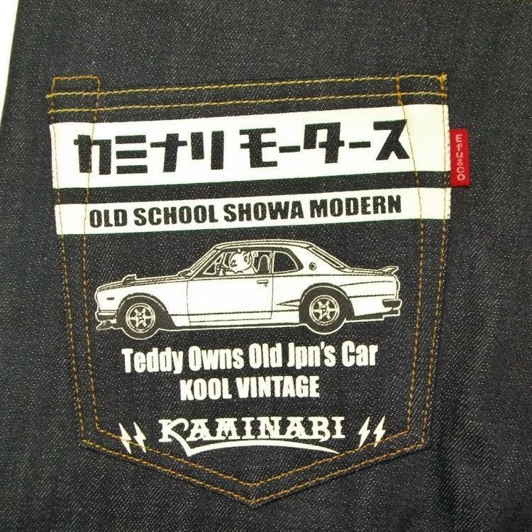 テッドマン TEDMAN×カミナリ コラボデニムパンツ TDKBC-200 アメカジ バイカー 旧車 ハコスカ|bscrawler|04