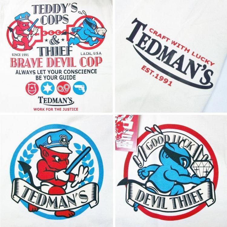 テッドマン TEDMAN ロンT 長袖Tシャツ TDLS-305 TEDDY'S COPS アメカジ バイカー ミリタリー bscrawler 04