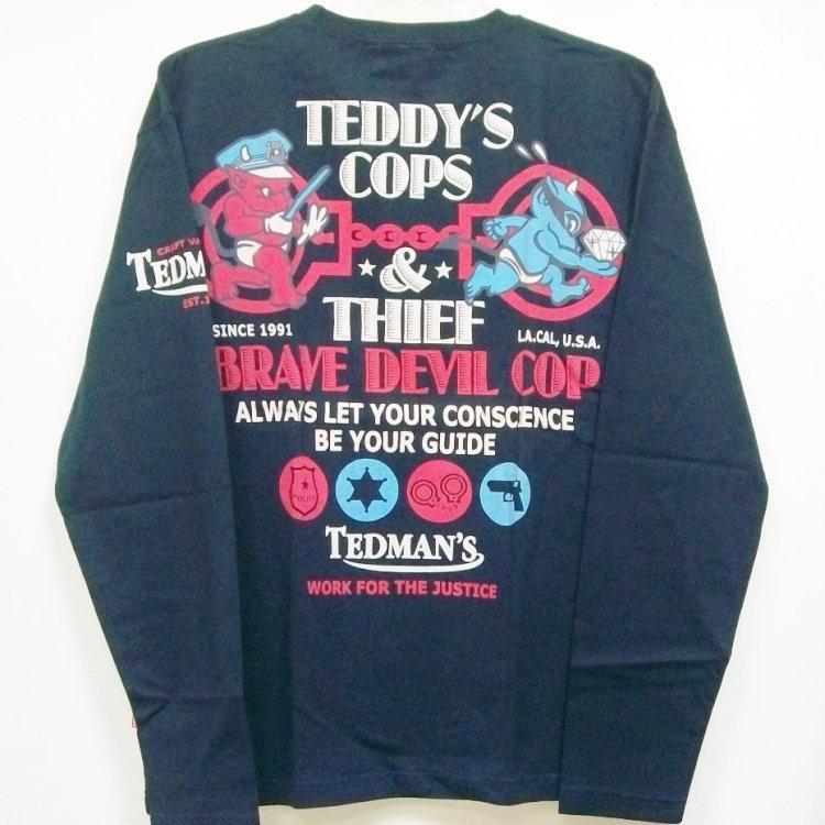 テッドマン TEDMAN ロンT 長袖Tシャツ TDLS-305 TEDDY'S COPS アメカジ バイカー ミリタリー bscrawler 05