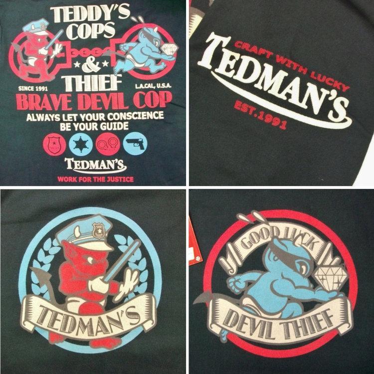 テッドマン TEDMAN ロンT 長袖Tシャツ TDLS-305 TEDDY'S COPS アメカジ バイカー ミリタリー bscrawler 07