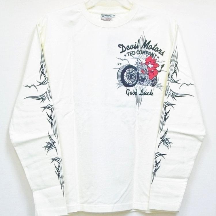 テッドマン TEDMAN ロンT 長袖Tシャツ TDLS-316 DEVIL MOTORS アメカジ バイカー ピンスト|bscrawler|03