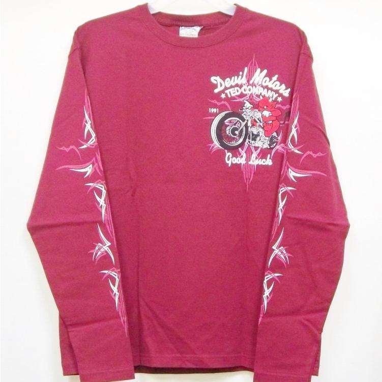 テッドマン TEDMAN ロンT 長袖Tシャツ TDLS-316 DEVIL MOTORS アメカジ バイカー ピンスト|bscrawler|06