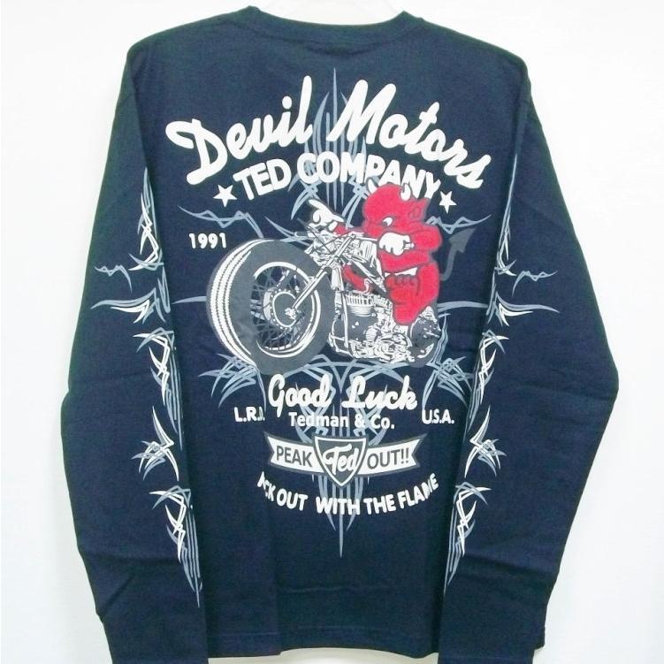 テッドマン TEDMAN ロンT 長袖Tシャツ TDLS-316 DEVIL MOTORS アメカジ バイカー ピンスト|bscrawler|08