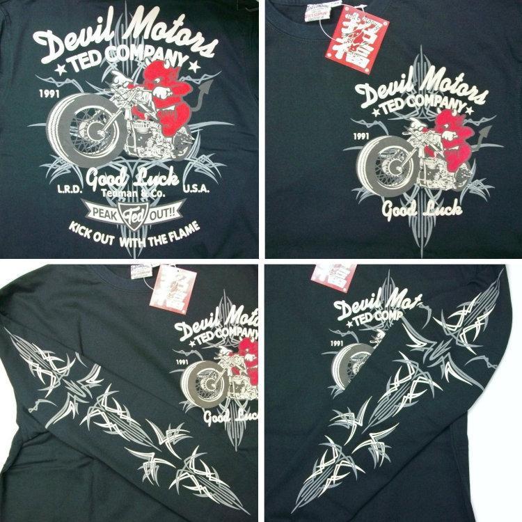 テッドマン TEDMAN ロンT 長袖Tシャツ TDLS-316 DEVIL MOTORS アメカジ バイカー ピンスト|bscrawler|10