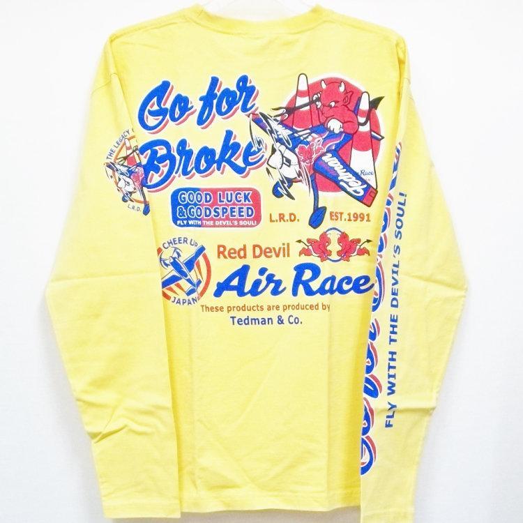 テッドマン TEDMAN ロンT 長袖Tシャツ TDLS-319 AIR RACE アメカジ バイカー ミリタリー|bscrawler|05