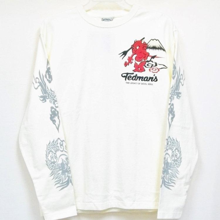 テッドマン TEDMAN ロンT 長袖Tシャツ TDLS-322 鬼VS虎 アメカジ バイカー 和柄|bscrawler|03