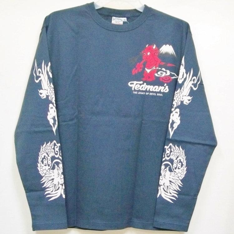 テッドマン TEDMAN ロンT 長袖Tシャツ TDLS-322 鬼VS虎 アメカジ バイカー 和柄|bscrawler|09