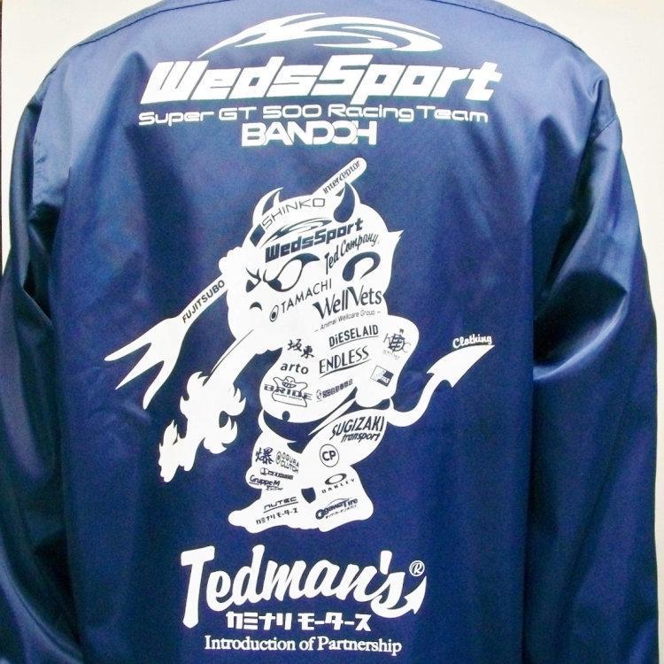 TEDMAN×カミナリ×WedssportBANDOH トリプルコラボナイロンコーチジャケット WEDSSNJ-700/アメカジ モーター系 スーパーGT|bscrawler|03