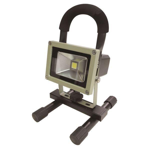 (業務用5個セット) trad 充電式LED投光器 防水/屋外用/省エネ/長寿命 JLW-10W