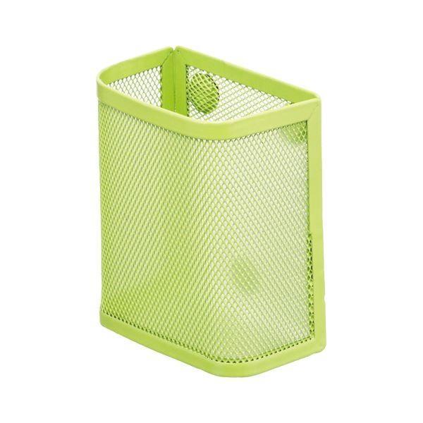 (まとめ) (まとめ) リヒトラブ マグネットポケット ペンスタンド 黄緑 A-7390-6 1個 〔×30セット〕