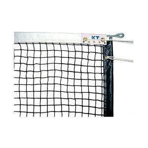 KTネット 全天候式無結節 硬式テニスネット サイドポール挿入式 センターストラップ付き 日本製 〔サイズ:12.65×1.07m〕 ブラック KT1223