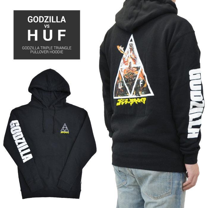 Huf Godzilla TT Pullover Sweat à capuche-Noir