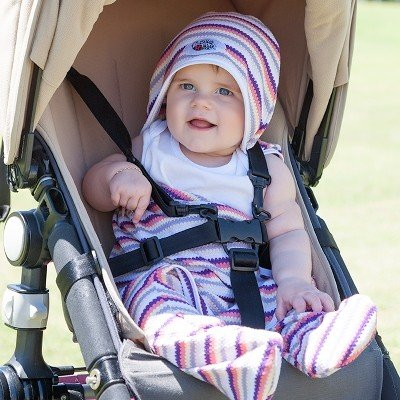 UVカットベビーラップ  (春夏用足つきおくるみ)赤ちゃんの紫外線対策に|bugbugbaby|02