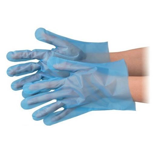 エブノ ポリエチレン手袋 ポリエチレン手袋 ポリエチレン手袋 No.3003 M 青 6000枚入(100枚×60袋) エブケアエンボス25 袋入 bee