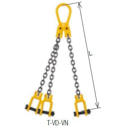キトー トリプルスリング T-VD-VN-M 6mm リーチ1.5m 《キトーチェンスリング100【標準セット品】(ピンタイプ)》