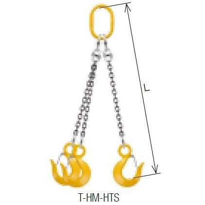 キトー トリプルスリング T-HM-HTS-M 6mm リーチ1.5m 《キトーチェンスリング100【標準セット品】(アイタイプ)》