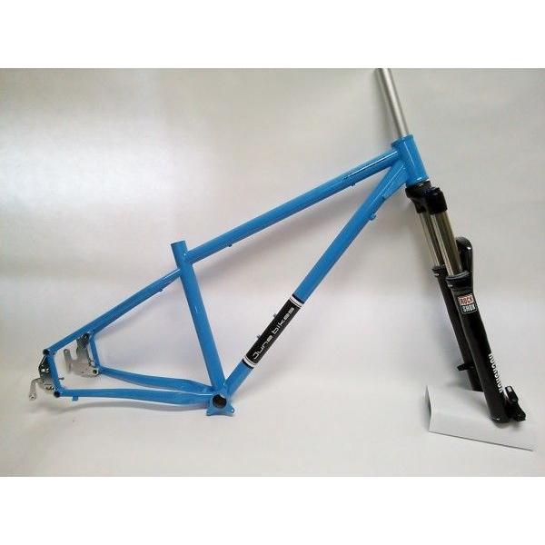 June bikes / All Mountain Trail 650B シングル&マルチスピード対応スライドリアエンド アイスブルー Sekter Silver TK ブラック フォークセット|buildupbicycle