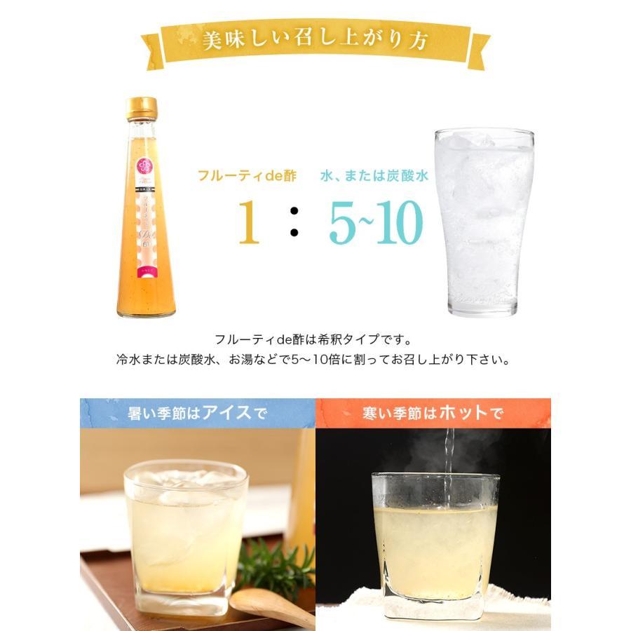 ギフト プレゼント 送料無料 健康 飲むお酢 果汁たっぷり フルーティde酢 3本 (いちじく、柚子、ブルーベリー)各200g (fy5) bundara 09
