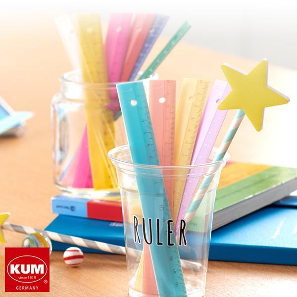 KUM クム ルーラー 17cm定規 かわいい(メール便対象) bungu-style