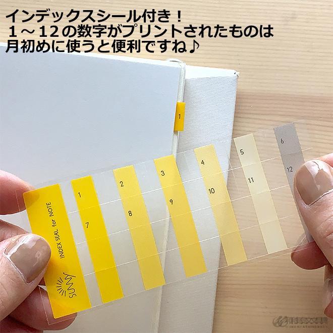 いろは出版 サニーノート SUNNY NOTE for business A5変形サイズ 2.5mm方眼 157ページ  リングノート  ページ番号付き  バレットジャーナル|bunguya|14
