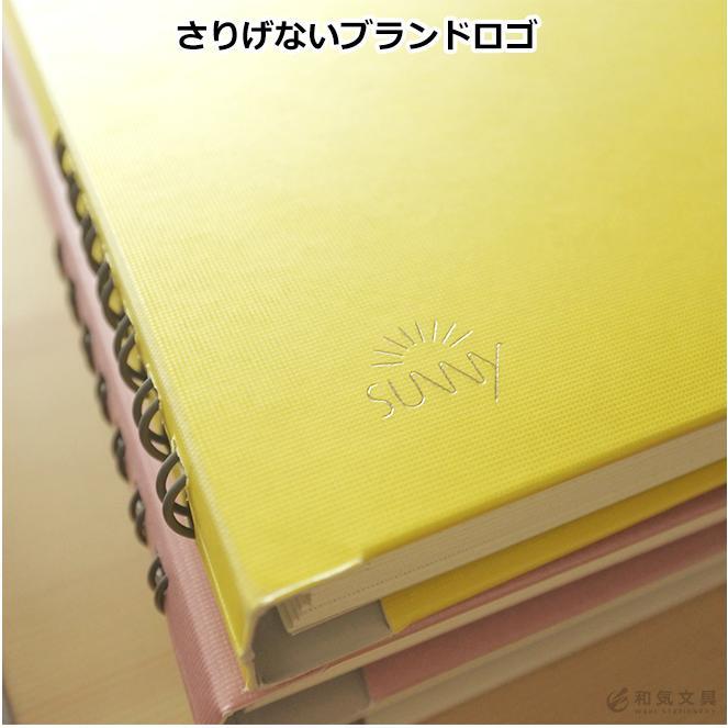 いろは出版 サニーノート SUNNY NOTE for business A5変形サイズ 2.5mm方眼 157ページ  リングノート  ページ番号付き  バレットジャーナル|bunguya|03