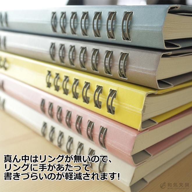 いろは出版 サニーノート SUNNY NOTE for business A5変形サイズ 2.5mm方眼 157ページ  リングノート  ページ番号付き  バレットジャーナル|bunguya|04