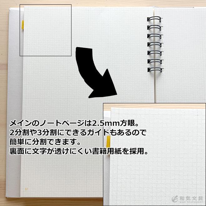 いろは出版 サニーノート SUNNY NOTE for business A5変形サイズ 2.5mm方眼 157ページ  リングノート  ページ番号付き  バレットジャーナル|bunguya|07