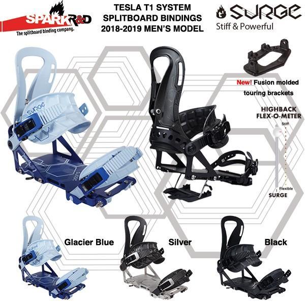 【1819モデル】Spark R&D SURGE bindings Tesla T1システム スプリットボード用 バインディング 2018-2019モデル
