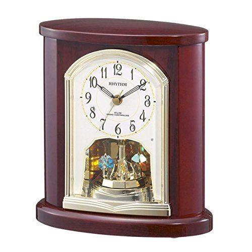 置き時計 置時計 電波時計 シチズン リズム時計 日本組立 高級光沢仕上げ パルロワイエ R681SR 木枠茶色 4RY681SR06 CITIZEN