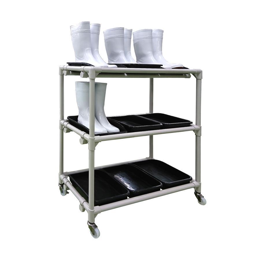 【固定脚】長靴ラック 3列3段(9足用) ISR-N33-A【送料別途】