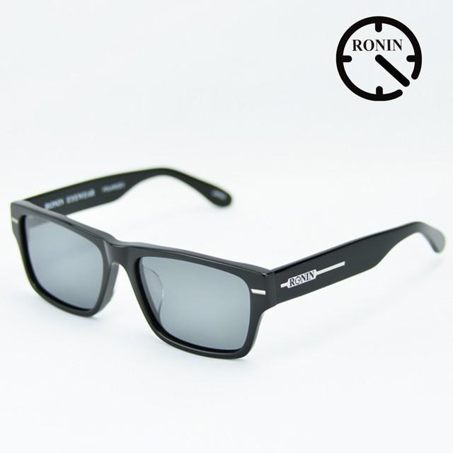 ロニン サングラスRonin Eyewear ロニンアイウェアー UVカット FLASH Shine 黒 / Gray Polarized Lens