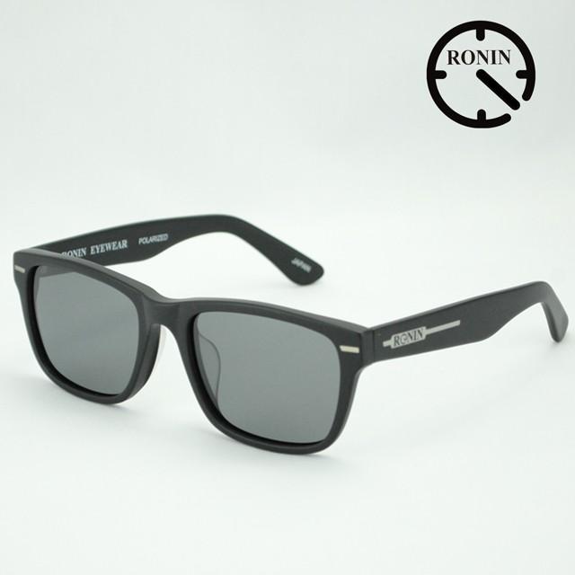 ロニン サングラスRonin Eyewear ロニンアイウェアー UVカット Type-A Mad 黒 / Gray Polarized Lens