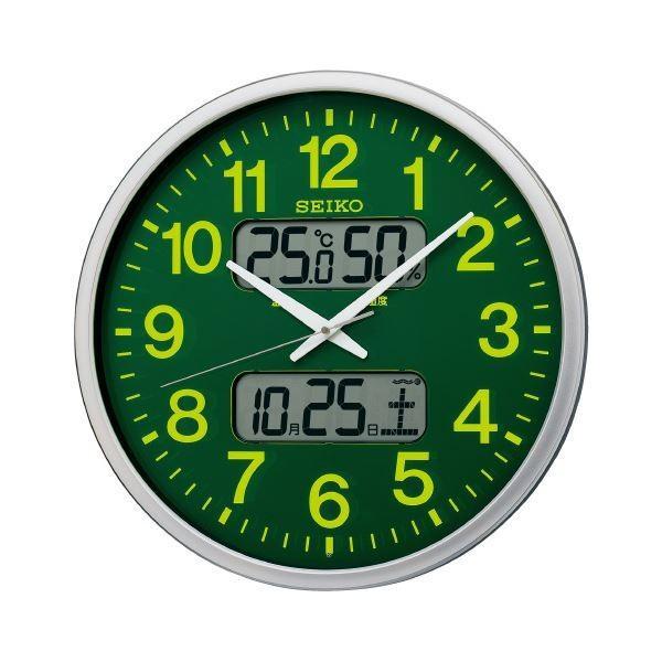 セイコー 電波掛時計 グリーン KX237H