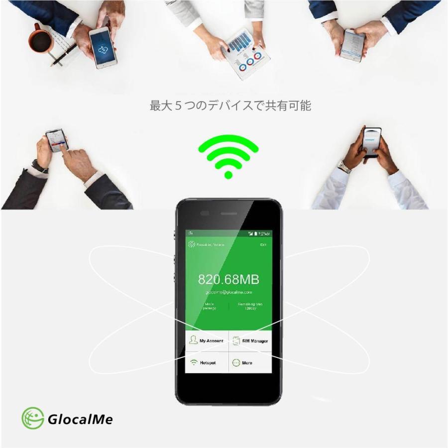 GlocalMe G3 クラウド Wi-Fiルーター 1台あれば家でも外でも海外でも使える テレワーク 在宅勤務 グローカルミー  |bwi|02