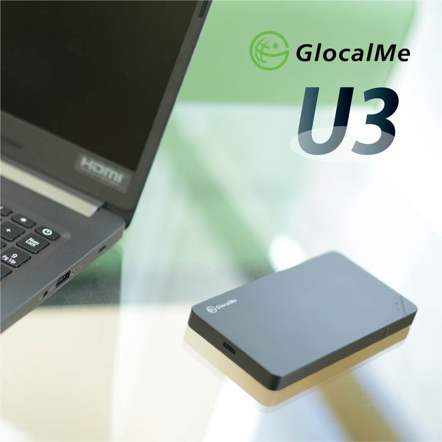 GlocalMe U3 Wifiルーター+プリペイドSIMセット 10GB/月 12ヶ月プラン テレワーク 在宅勤務 bwi 02