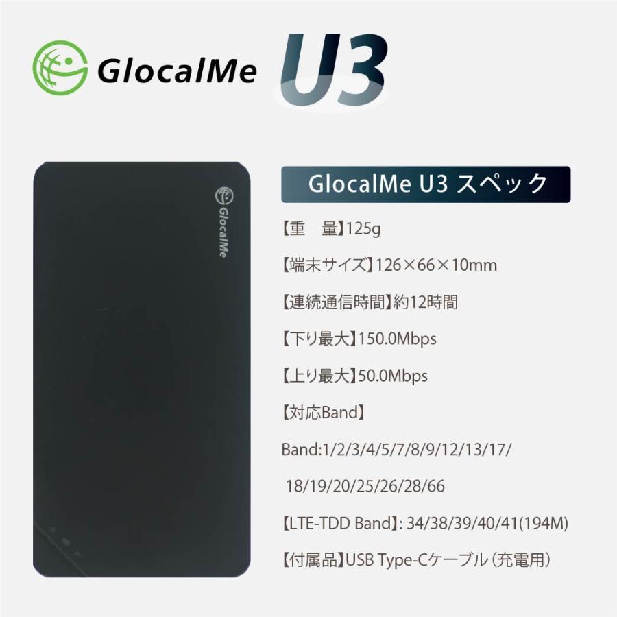 GlocalMe U3 Wifiルーター+プリペイドSIMセット 10GB/月 12ヶ月プラン テレワーク 在宅勤務 bwi 06